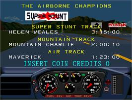 High Score Screen for Hard Drivin's Airborne.