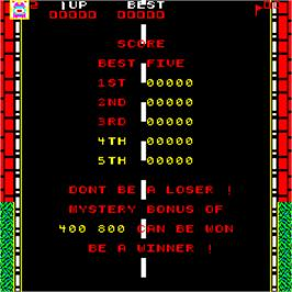 High Score Screen for Highway Chase.