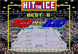 High Score Screen for Hit the Ice.