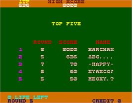High Score Screen for Hopping Mappy.