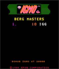 High Score Screen for IGMO.