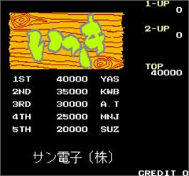 High Score Screen for Ikki.