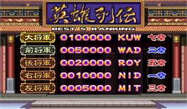 High Score Screen for Janpai Puzzle Choukou.