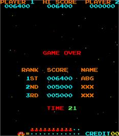 High Score Screen for Jump Bug.