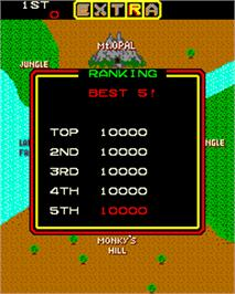 High Score Screen for Jumping Jack.