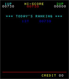 High Score Screen for Kamikaze.