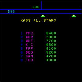 High Score Screen for Kaos.