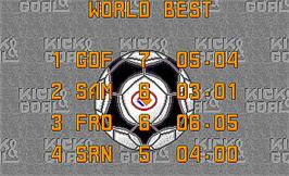 High Score Screen for Kick Goal.