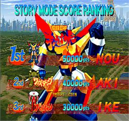 High Score Screen for Kikaioh.