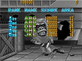 High Score Screen for Knuckle Bash 2.