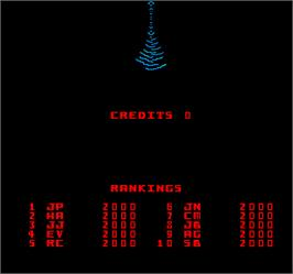 High Score Screen for Kozmik Kroozr.