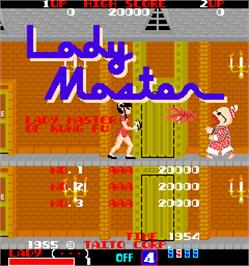 High Score Screen for Lady Master of Kung Fu.