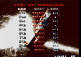 High Score Screen for Last Resort.