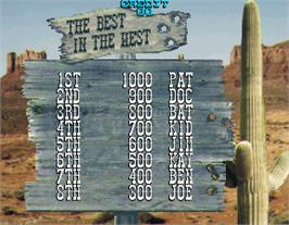High Score Screen for Lethal Enforcers II: The Western.