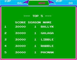 High Score Screen for Libble Rabble.