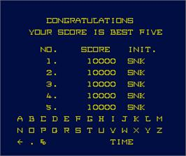High Score Screen for Mad Crasher.