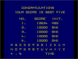 High Score Screen for Mad Crusher.