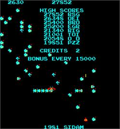 High Score Screen for Magic Worm.