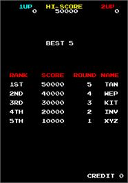 High Score Screen for Majestic Twelve - The Space Invaders Part IV.