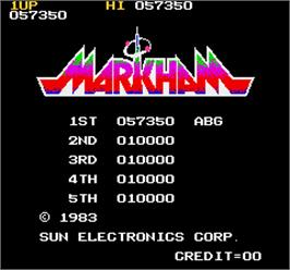 High Score Screen for Markham.