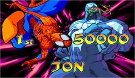 High Score Screen for Marvel Vs. Capcom: Clash of Super Heroes.