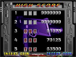 High Score Screen for Maximum Force.
