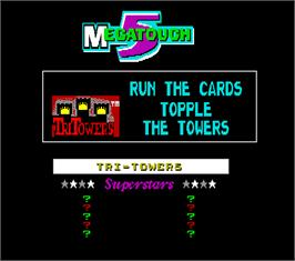 High Score Screen for Megatouch 5.