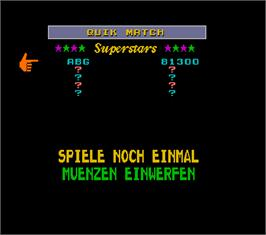 High Score Screen for Megatouch 5 Turnier Version.