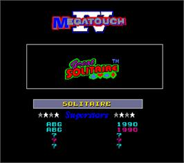 High Score Screen for Megatouch IV Tournament Edition.