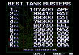 High Score Screen for Metal Slug - Super Vehicle-001.