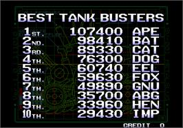 High Score Screen for Metal Slug 2 - Super Vehicle-001/II.