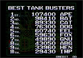 High Score Screen for Metal Slug 3.