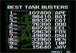 High Score Screen for Metal Slug 5.
