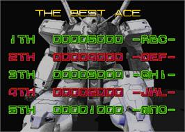 High Score Screen for Mobil Suit Gundam Final Shooting.