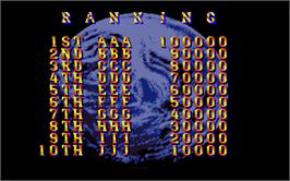High Score Screen for Mobile Suit Gundam.