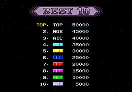High Score Screen for Mosaic.