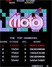High Score Screen for Motos.