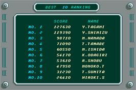 High Score Screen for Mr. HELI no Dai-Bouken.
