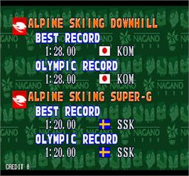 High Score Screen for Nagano Winter Olympics '98.