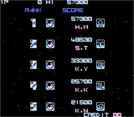 High Score Screen for Nemesis.