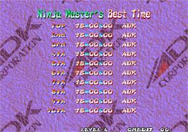High Score Screen for Ninja Master's - haoh-ninpo-cho.