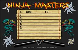 High Score Screen for Ninja Mission.