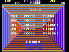 High Score Screen for Nova 2001.