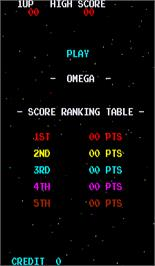 High Score Screen for Omega.