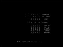 High Score Screen for Omega Race.