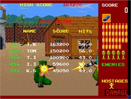 High Score Screen for Operation Wolf.