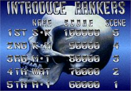 High Score Screen for Operation Wolf 3.