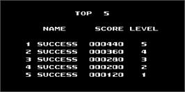 High Score Screen for Othello.