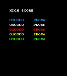 High Score Screen for Ozon I.