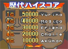 High Score Screen for Panel & Variety Akamaru Q Jousyou Dont-R.